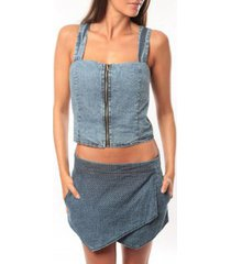 top dress code bustier saxx bleu