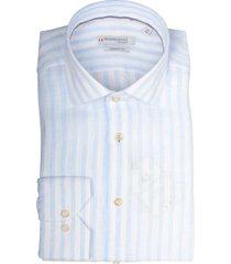 giordano maggiore overhemd blauw wit 107840/61