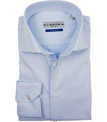 ledub business overhemd bleu tailored fit