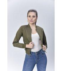 chaqueta bomber dama verde di bello jeans  classic jackets ref c003