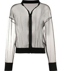 alchemy sheer mesh track jacket - black