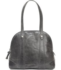 frye melissa domed leather satchel -