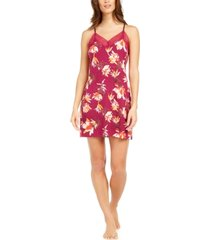 sesoire women's floral-print lace chemise nightgown