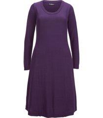 abito in maglia svasato (viola) - bpc bonprix collection