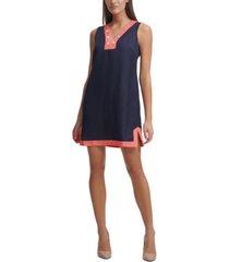 tommy hilfiger contrast-trim shift dress