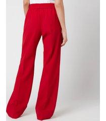 golden goose women's brittany pyjamas welt pocket pants - tango red - it44/uk 12