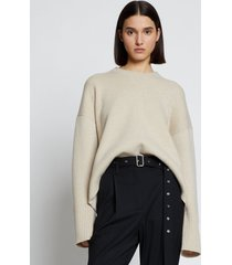 proenza schouler eco cashmere oversized sweater oatmeal/neutrals l
