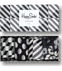 giftbox 4pak skarpetki black and white