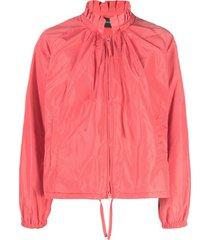 aspesi ruffled-neck long-sleeved jacket - pink