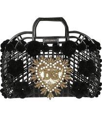 dolce & gabbana embellished cage tote