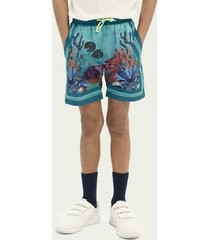 scotch & soda sea-print swim shorts