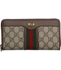 gucci gg suprime ophidia zip around wallet