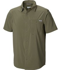 camisa m/c triple canyon solid shirt verde columbia