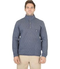 men's 1/4 snap quilted pullover