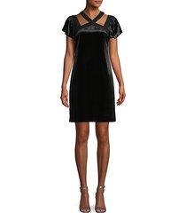 flutter-sleeve cutout mini dress