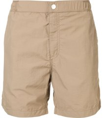 venroy snaplock swim shorts - brown