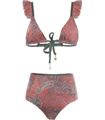 biquini any paisley hype beachwear – vermelho