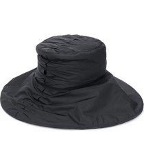 jordan luca ruched bucket hat - black