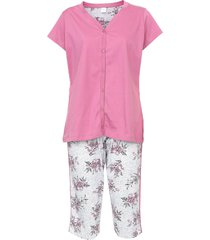 pijama pzama coraã§ã£o rosa/cinza - rosa - feminino - algodã£o - dafiti