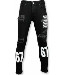 skinny jeans mario morato skinny jeans stretch jeans white print