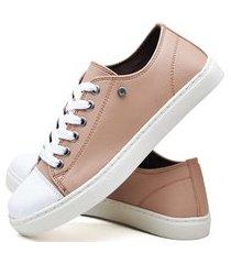 tênis sapatênis casual fashion feminino dubuy r305el rosa