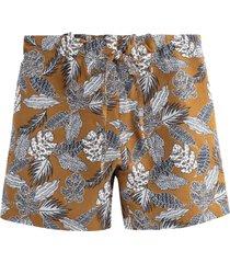 mönstrade shorts i linneblandning