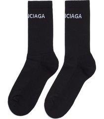 logo intarsia socks