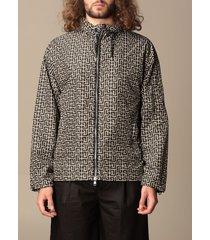 balmain jacket balmain nylon jacket with all-over monogram print