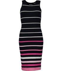 jurk stripe donkerblauw