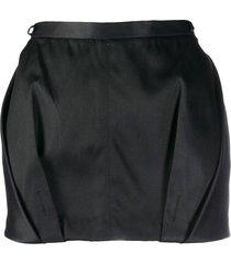 gianfranco ferré pre-owned 1990s draped detailed mini skirt - black