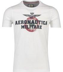 aeronautica militare t-shirt wit opdruk ronde hals