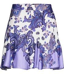 cassie skirt kort kjol lila ravn