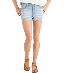 celebrity pink juniors' curvy distressed shorts
