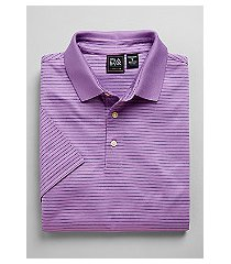 traveler collection traditional fit stripe short-sleeve men's polo shirt - big & tall