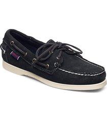 docksides portland suede w loafers låga skor blå sebago
