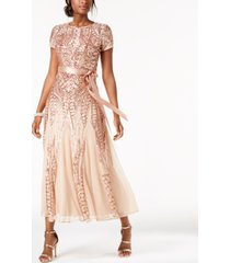 r & m richards petite sequined gown