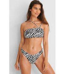 hunkemöller högt skuren rio-bikiniunderdel hkm x na-kd vit