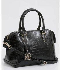 bolsa de mão textura croco chenson feminina