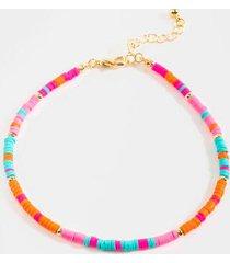 emma rubber beaded bracelet - pink
