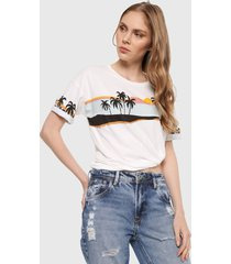 camisa blanco-multicolor pepe jeans