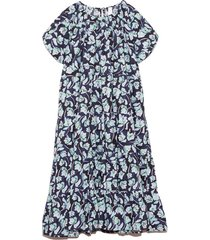 alegre dress in blue floral print