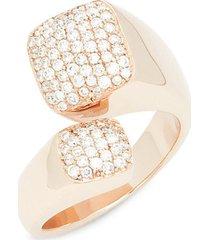 14k rose gold & diamond midi ring