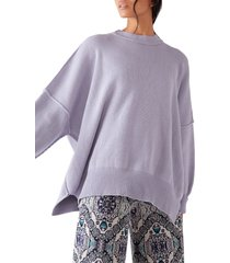 women's free people easy street tunic, size x-large - blue