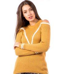 blusa tricot carlan venus vacani decote redondo