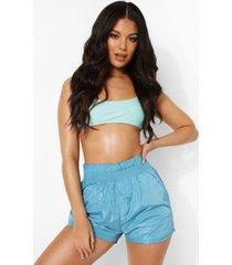 soft-shell strand shorts, blue