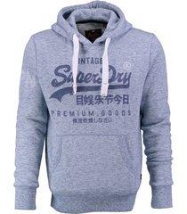 superdry lichtblauwe sweater hoodie