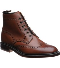 handmade mens brogue brown ankle high leather boots, mens dress leather boot