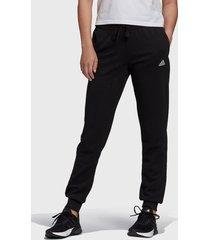 pantalón de buzo adidas performance w lin ft c pt negro - calce regular