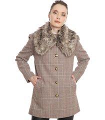 abrigo ash fantasía beige - calce regular