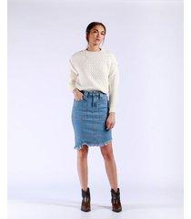 falda midi clararotos